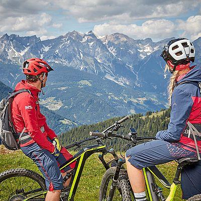 Mountain biking at Hotel Lenz
